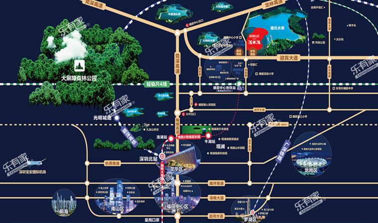银湖山庄五期交通图