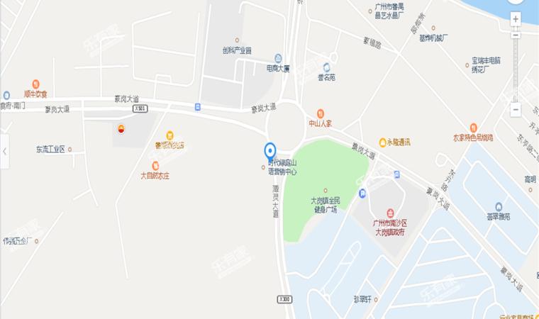 雅筑山语花园位置图1