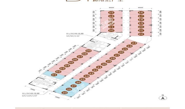 远洋天骄广场B1栋户型平面图