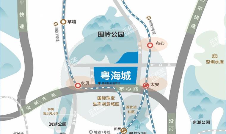 悦彩城位置图