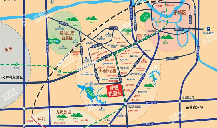 鼎盛悦玺台位置图2