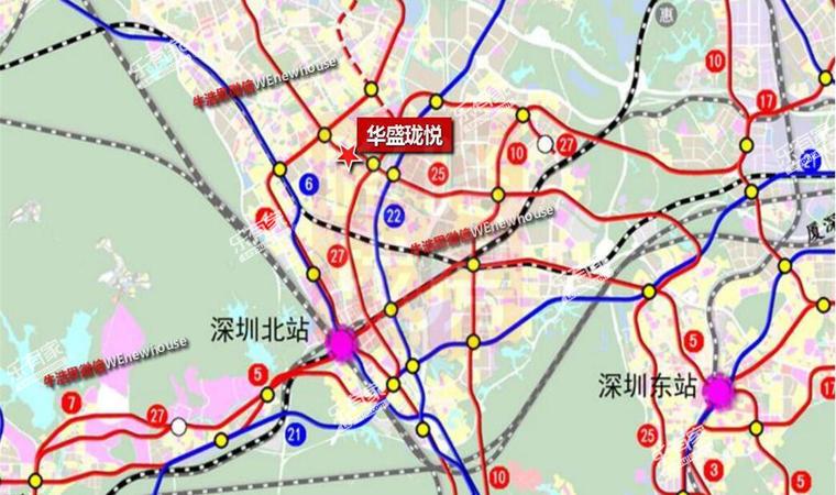 华盛珑悦花园位置图1