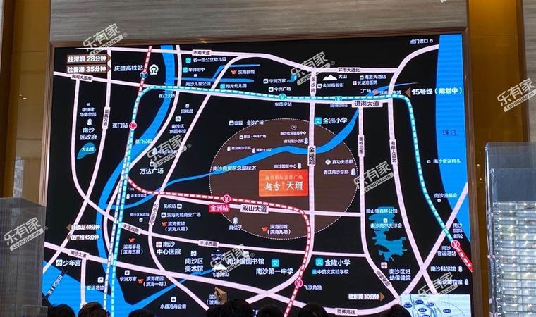南沙滨海花园七期住宅位置图1