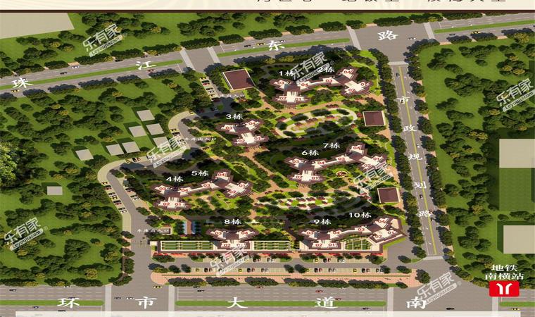 景业东湖洲豪园小区平面图1