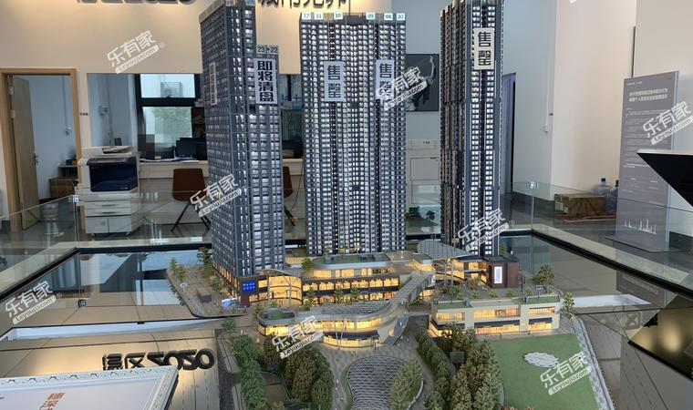 万科城市之光广场沙盘图1
