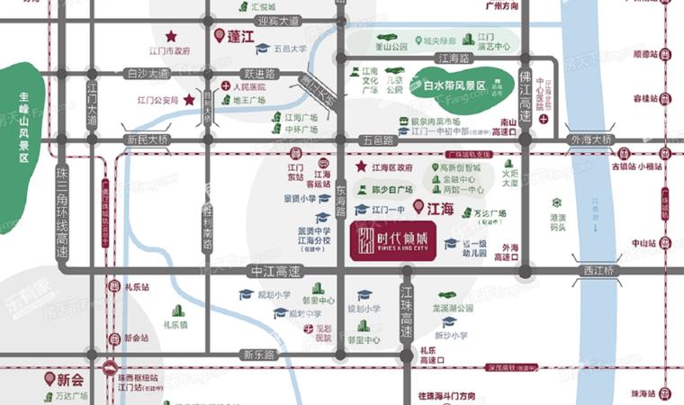 时代倾城(江海)位置图1