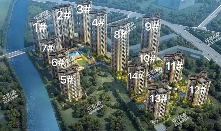 景商领峰花园沙盘图1