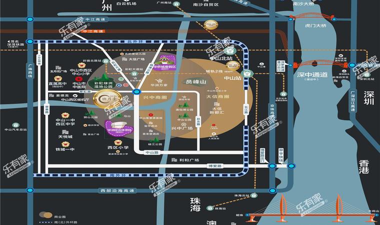 景商领峰花园位置图1