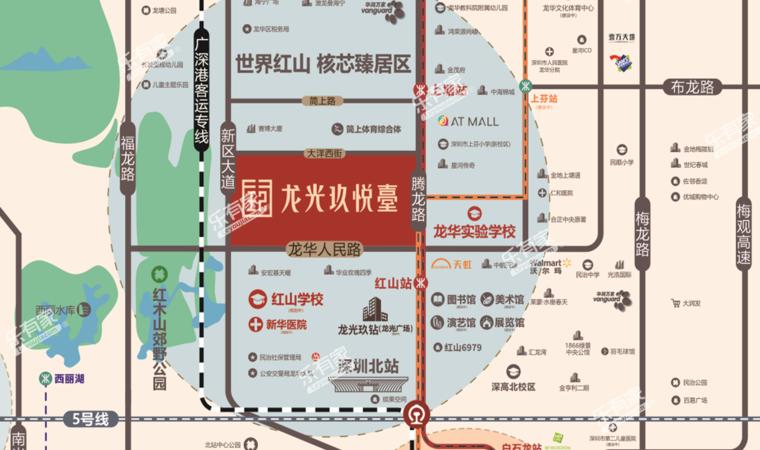 龙光玖悦台配套图1