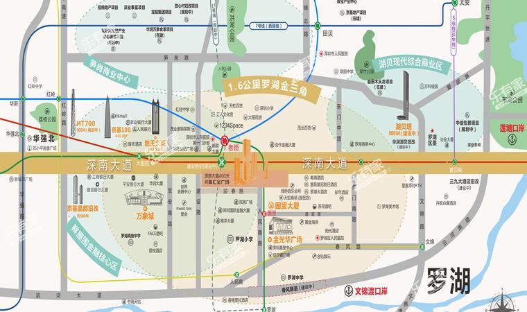 兆鑫·汇金广场位置图1