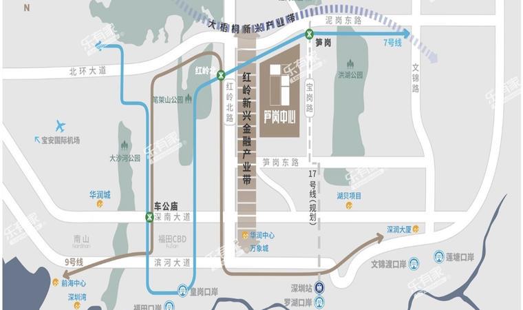 华润置地笋岗中心位置图1