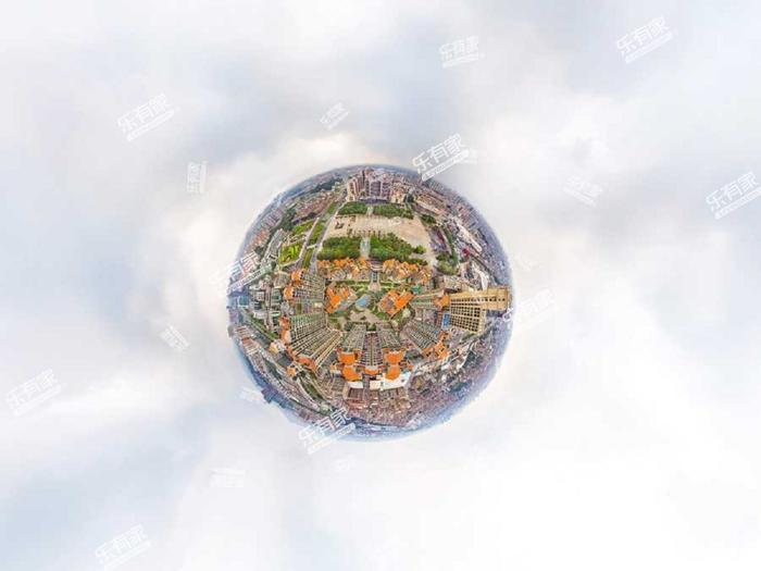 香缤城市花园小区航拍