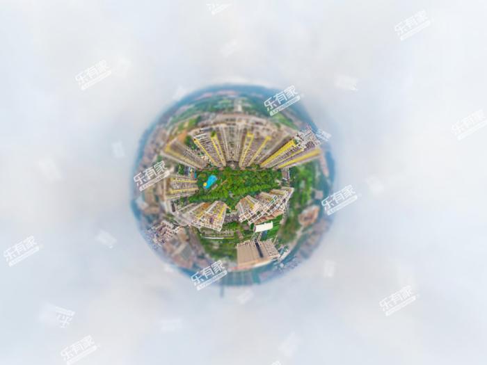 中惠山畔名城小区航拍