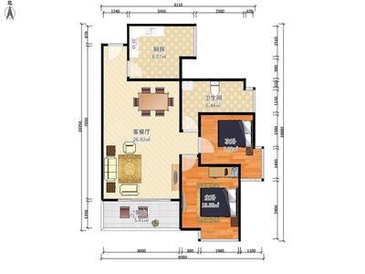 俊安苑正规两房两厅,户型方正户型通透,家私电器齐全,诚心出租