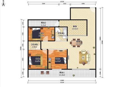 星岸城3加1房出售-惠州华泓星岸城二手房