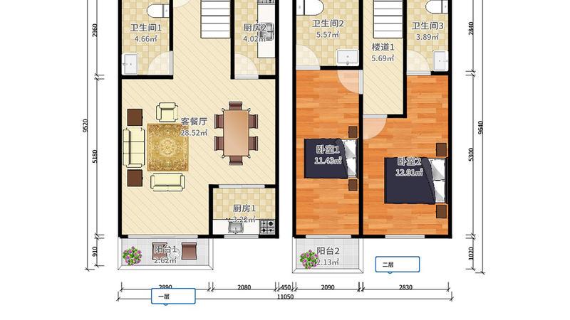 大朗碧桂园4室2厅4卫307㎡