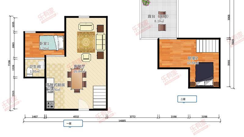 白金时代公寓户型图