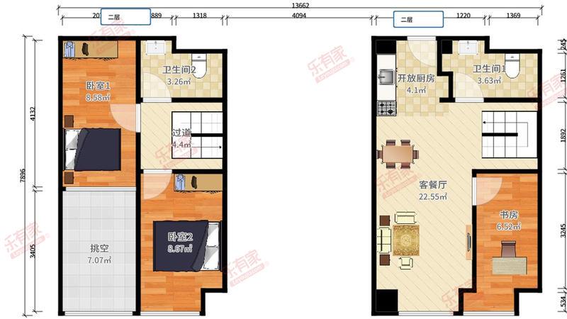 南联地铁口远洋新干线,精装复式三房公寓,业主诚心出售