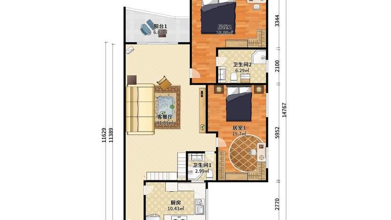 芷兰苑南普装4室3厅193m²