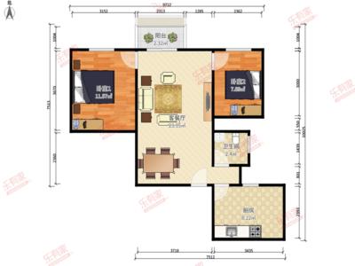 银泰苑南普装2室2厅77.94m²-深圳银泰苑二手房
