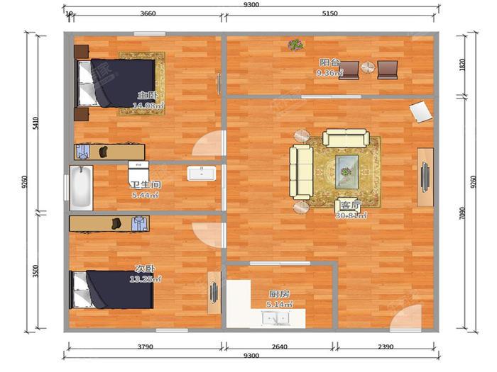 第一居户型图