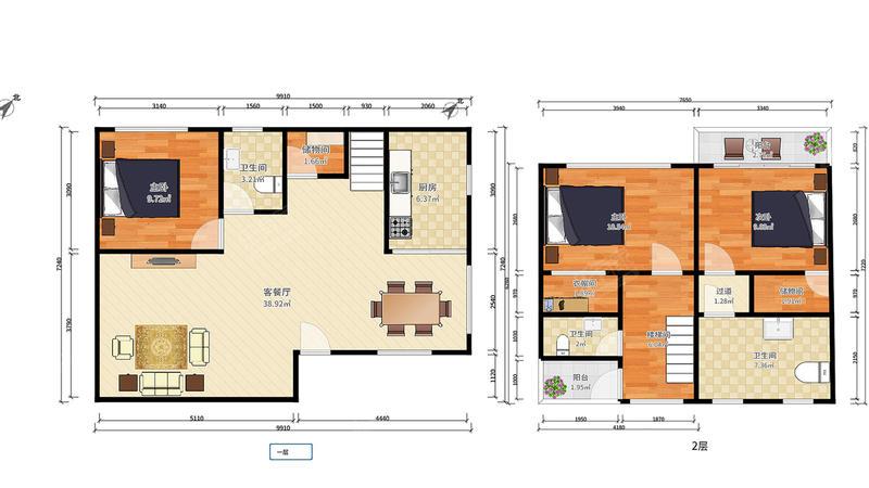碧桂园十里银滩5室2厅4卫273.73㎡