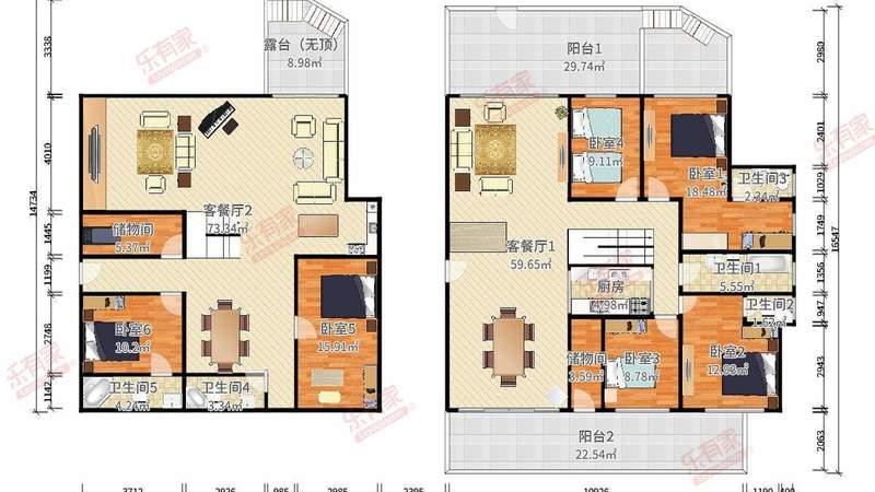 家和城(别墅)户型图