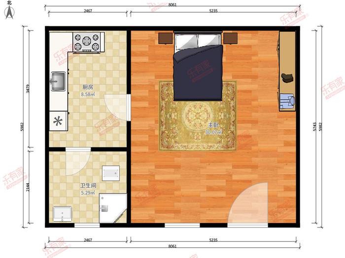 幸福公寓户型图