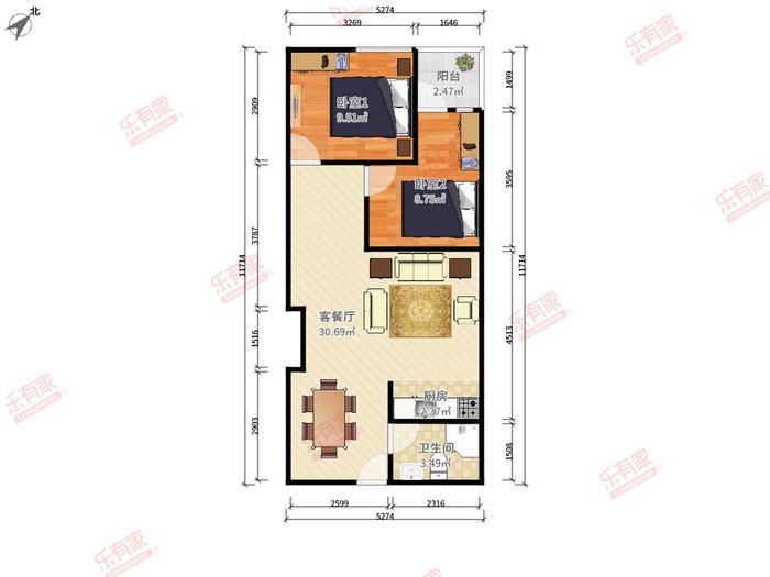 懿峯国际公寓户型图