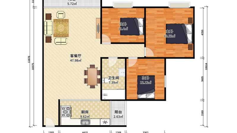 普君新城东苑户型图