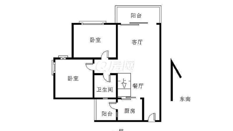 中惠沁林山庄3室2厅1卫72.5㎡