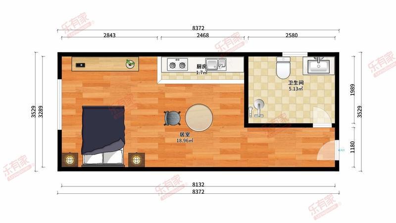 广佛电商城精装1房给您一个温馨舒适的家