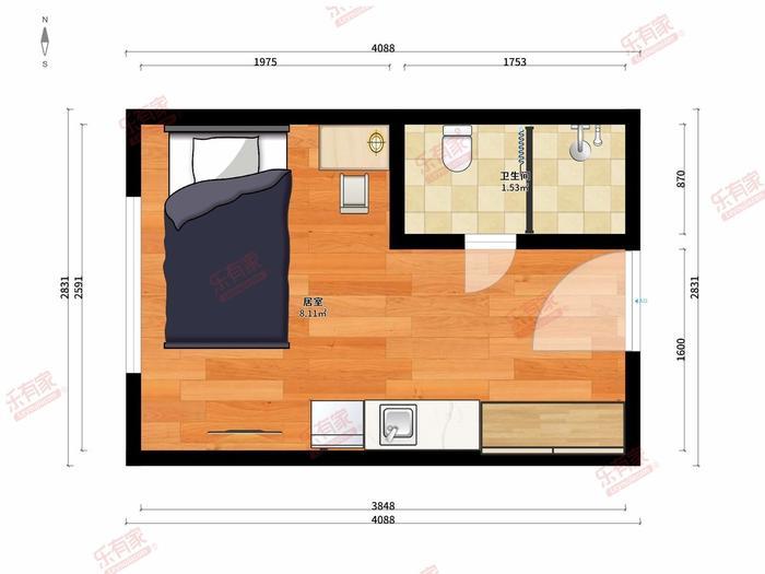 城家公寓43区店户型图