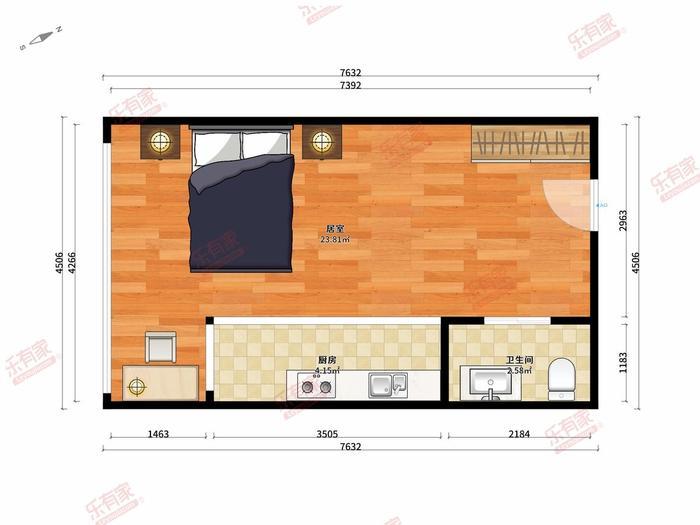 白金假日公寓户型图