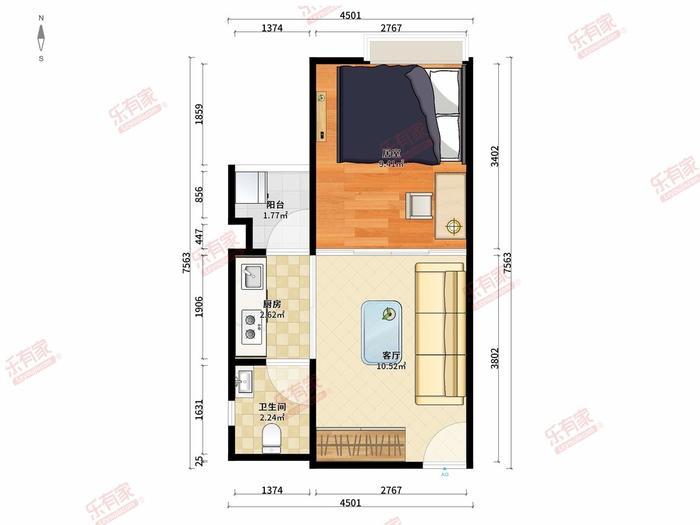 和华国际公寓户型图