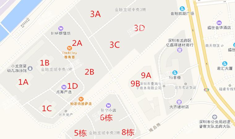 金地凯旋广场沙盘图
