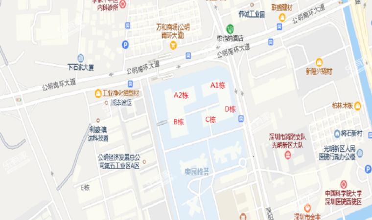 峰荟时代科技中心沙盘图