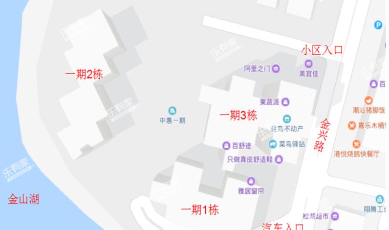 中惠松湖城沙盘图