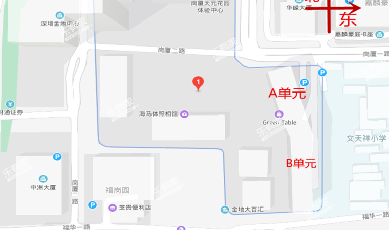 岗厦天元花园沙盘图