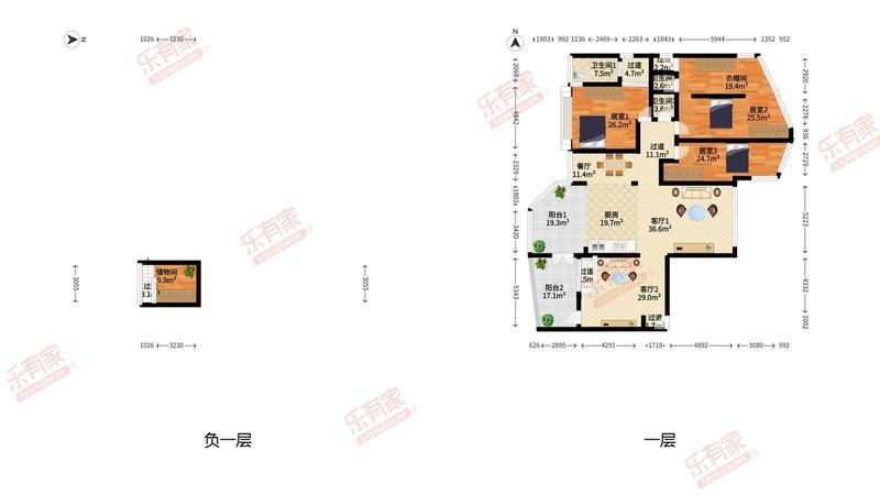 蝴蝶谷名苑户型图