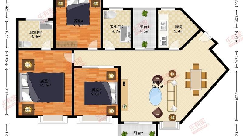 丰泰东海城堡户型图