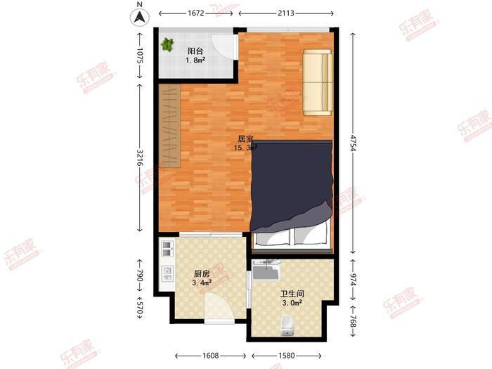 嘉年华国际公寓户型图