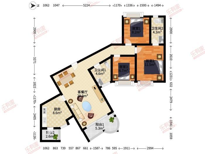 绿茵豪庭户型图