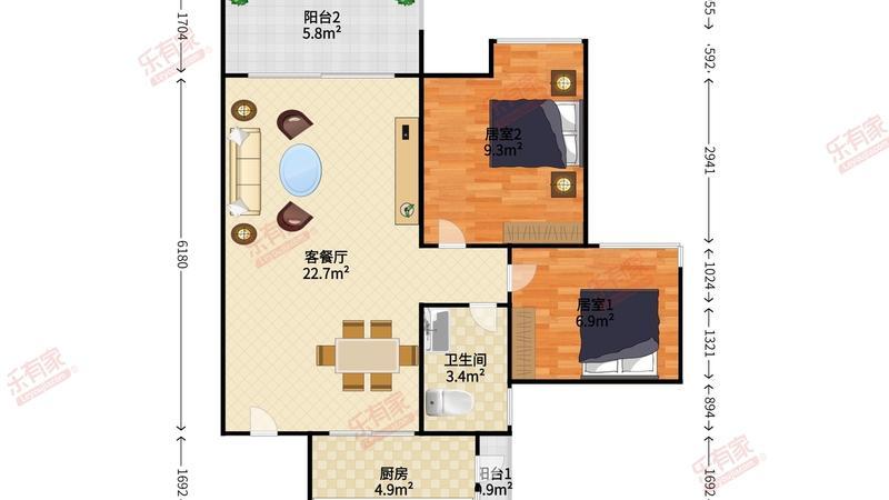 中海康城花园户型图