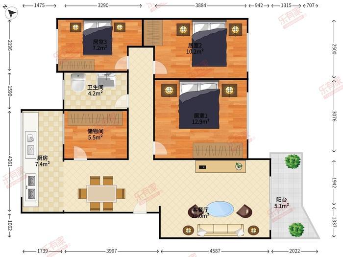 21区灵芝综合楼户型图