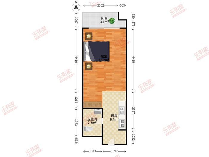 碧桂园盛汇公寓户型图