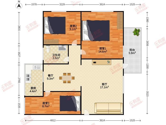 电子设计院住宅楼户型图