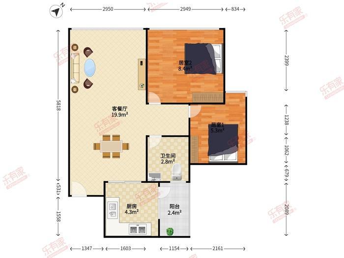 金领假日公寓户型图