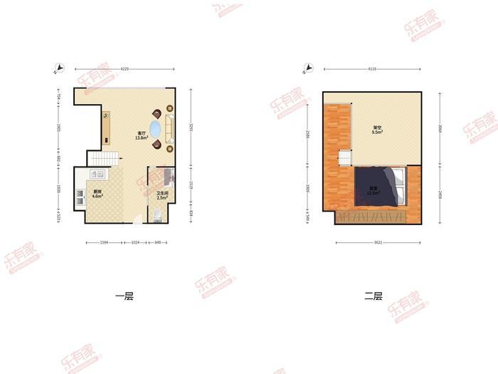 仁恒梦公寓户型图