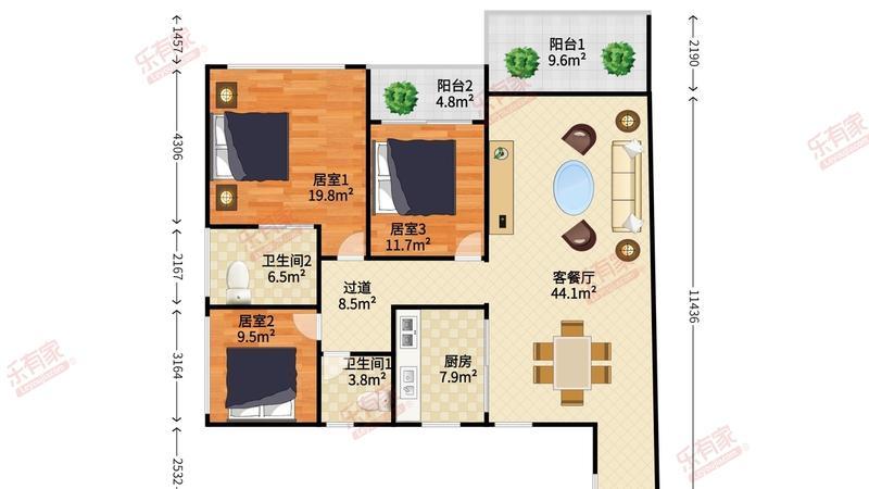 中洲中央公寓户型图